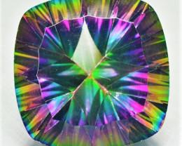 10.45 Cts Rare Fancy Rainbow Colors Natural Mystic Quartz