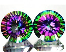 8.65 Cts Rare Fancy Rainbow Colors Natural Mystic Quartz