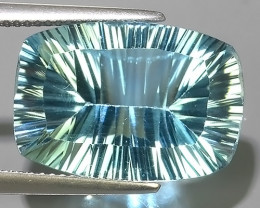 15.90 CTS DAZZLING !LASER FANCY CUT AQUA COLOR BLUE-TOPAZ GENUINE!