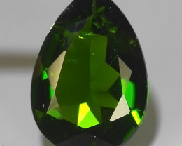 1.65 CTS NATURAL ULTRA RARE PEAR CHROME GREEN DIOPSIDE RUSSIA~