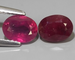 2.35 Cts Gorgeous!Jumbo!Oval Facet Top Blood Red Natural Ruby Madagascar!