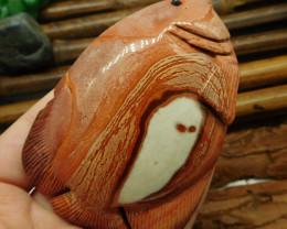 Succor jasper carved fish decoration (D182)