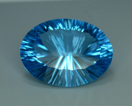 Top Quality Attractive Laser Cut 45.95 ct Blue Topaz