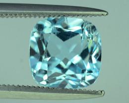 Fancy Cut Amazing Color 2.95 ct Blue Topaz