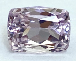 3.00 Ct Kunzite Top Cut Top Luster Quality Gemstone.From Pakistan.PKZ 43