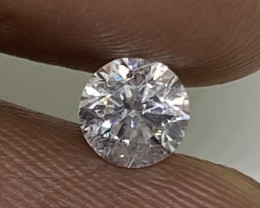 (1) Certified  $879  Beautiful  0.46cts SI2 Nat White Round Loose Diamond