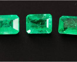 Emerald  0.57 ct Zambia GPC Lab