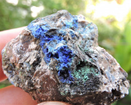 37.74g AZURITE MALACHITE SPECIMEN FROM LAVRION MINES GREECE