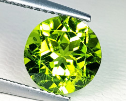 3.21 ct Top Quality Round Cut Top Luster Natural Peridot