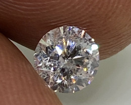 (8) Certified $961 Stunning  0.54cts SI2 Nat White Round Loose Diamond