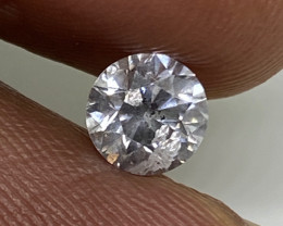 (9) Certified $2898 Precious 0.70cts  I1 Nat White Round Loose Diamond