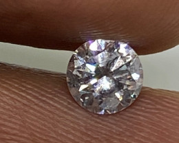 (10) Certified $1170 Gorgeous 0.54cts SI1 Nat White Round Loose Diamond