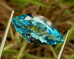 9.22 ct Aquamarine  with fine Cutting gemsstone