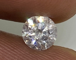 (11) Certified $962 Fiery 0.52cts SI2 Nat White Round Loose Diamond