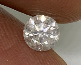 (12) Certified $569 Brilliant  0.47cts SI3 Nat White Round Loose Diamond