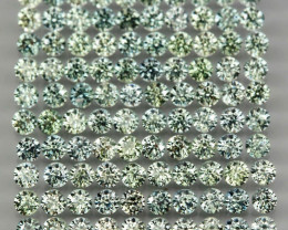 Explode 4.30 Ct 1.7mm 150 Pcs. Round Diamond Cut 100% Natural Green Sapphir