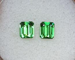 1,80ct Tsavorite garnet pair - Top colour!