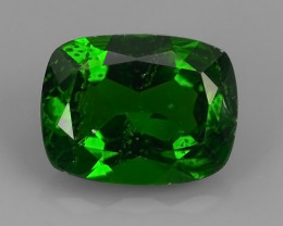 2.00 CTS EXCELLENT RARE CUSHION NATURAL TOP GREEN- CHROME DIOPSIDE~
