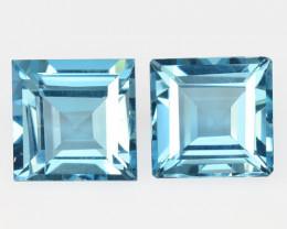 11.98 Carat 2Pcs Blue Natural Topaz Gemstones