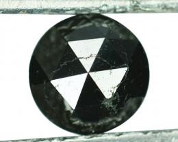 1.12 Cts Natural Black Diamond Round 5.90mm (Rose Cut) Africa