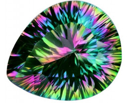 9.54 Cts Rare Fancy Rainbow Colors Natural Mystic Quartz