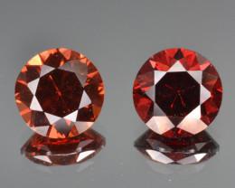 Natural Rhodolite Garnet Pair 2.46 Cts, Top Luster