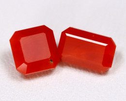 Red Coral 1.98Ct Octagon Cut Natural Untreated Italian Red Coral A3010
