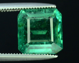 AIG Certified Top Color & Clarity 3.61 ct Emerald ~ Zambia