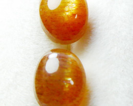 3.70 CT Natural - Unheated Golden Sunstone Cabochon Pair