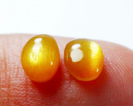 2.10 CT Natural - Unheated Golden Sunstone Cabochon Pair