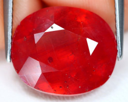 Red Ruby 13.80Ct Oval Cut Pigeon Blood Red Ruby C3008