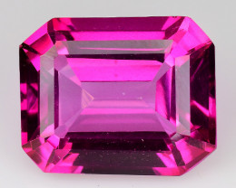 6.60Cts Pink Topaz Top Cut and Luster Gemstone PT18