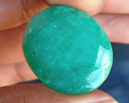 41.80 ct BIG EMERALD GEMSTONE NATURAL GEM Treated VA558