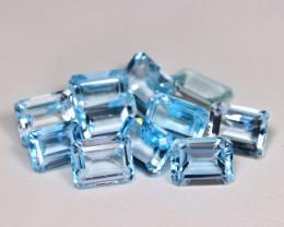 27.36Ct Natural Vivid Swiss Blue Color Topaz A039