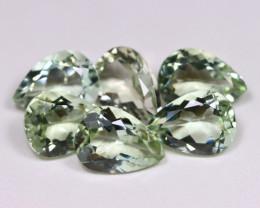 36.66Ct Natural Leaf Green Color Prasiolite Green Amethyst A046