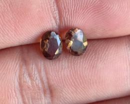 7x5 mm Smoky Quartz Gemstone Pair 100% Natural and Untreated Gems VA590