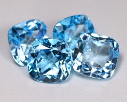 35.38Ct Natural Vivid Swiss Blue Color Topaz A085