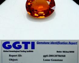 NR!!! 0.90 Cts GGTI-Certified- Orange Garnet Gemstone