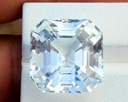 32.10 CTS Asscher Cut Natural Aquamarine Gem