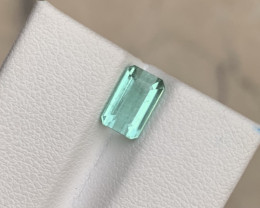 1.60 carats bluish green colour Tourmaline Gemstone From Afghanistan