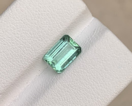 1.80 carats bluish Green colour Tourmaline Gemstone From Afghanistan