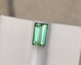 1.60 carats Transparent Green colour Tourmaline Gemstone From  Afghanistan