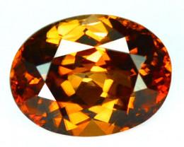 ~BEAUTIFUL~ 2.75 Cts Natural Reddish Orange Zircon Oval Cut Tanzania