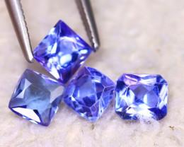 Tanzanite 2.00Ct 4Pcs Natural VVS Purplish Blue Tanzanite EF0212/D3