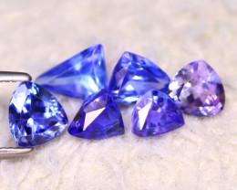 Tanzanite 3.10Ct 6Pcs Natural VVS Purplish Blue Tanzanite EF0213/D3