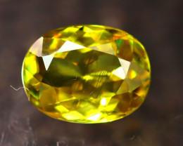 Sphene 1.36Ct Natural Rainbow Flash Green Sphene DR452/B41
