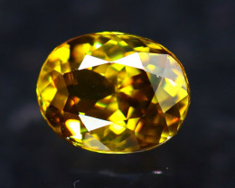 Sphene 1.31Ct Natural Rainbow Flash Green Sphene DR454/B41