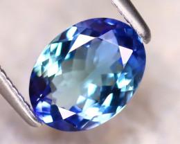 Tanzanite 1.40Ct Natural VVS Purplish Blue Tanzanite DR456/D4