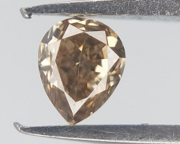 0.12 cts , Natural Color Diamond , Pear Brilliant cut