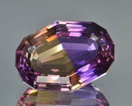 Natural Bolivian Ametrine 18.22 Cts Top Quality with Precision Cut
